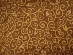 Natural Swirl Leaf Fabric. $3.00, via Etsy.