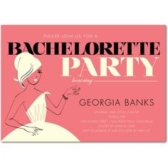 Create wedding bachelorette party invitations at Wedding Paper Divas. Find elegant unique styles from exclusive designers to announce your party. Hens Party Invitations, Bachlorette Party, Bachelorette Party Invitations, Bachelorette Weekend, Bridal Shower Invitations, Wedding Stationery, Invites, Bachelorette Parties, Invitation Ideas