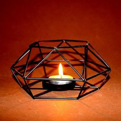 European Candle Holder Iron Candlestick Geometric Table Candle Holders Decor 6A