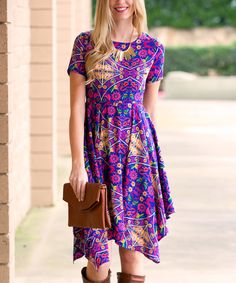 Royal Kelsee Floral Dress by Sawyer Cove #zulily #zulilyfinds