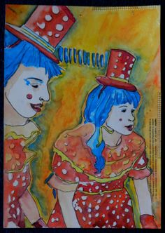 Watercolour inspired by a visit to Luna Park Sydney