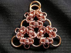 Byzantine Triangle by mithrilweaver #Maille #Pendant