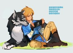 Link & Wolf Link