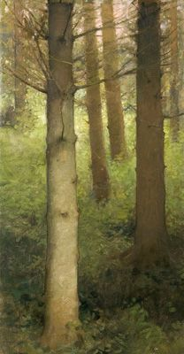 Pine Forest - by Charles Weed > An couple of artist friends posted this piece on Facebook so I thought I'd share it with my Pinterest followers.  He's a Danish painter and many of his pieces on his website are quite extraordinary. Enjoy.