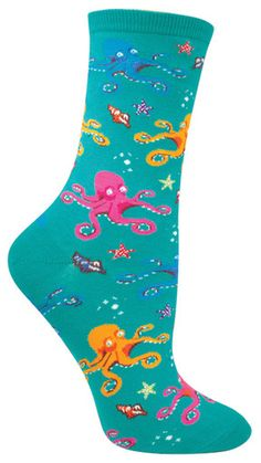 One reason to be jealous of an octopus? They have eight legs… meaning eight opportunities to wear these awesomely colorful under the sea socks. Go with the flow in these awesome black socks, but be ca