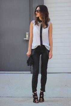 H & M shirt, J Brand pants, Zara shoes, Celine sunnies