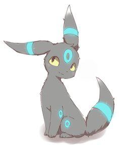 Shiny Umbreon Pokemon Eeveelutions, Eevee Evolutions, Pokemon Pokemon, Cute Pokemon Pictures, Pokemon Images, Shiny Umbreon, Cute Pikachu, Cute Animal Drawings, Furry Art