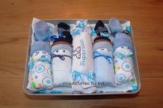 diaper babies - Windelbabys 'Supersüss', Windeltorte mit Body - ein Designerstück von Windeltorten-by-Evi bei DaWanda