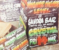 Higher Higher Level #higher #level #up #turnt #dancehall #reggae #soundsystem #crystal #dancehallsigns #handpaintedsign #signpainting #sign #art #design #typography #lettering #nursenegril #westmoreland #mobay #negril #jamaica #tbt #fbf #throwback by nursesigns