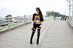 Ana Clara Campelo, Oversize Eye Brow Designer Inspired Round Metal Sunglasses 8626