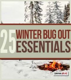 25 Winter Bug Out Essentials | Here's Your Ultimate List Of Guide & Tips When Prepping For Winter By Survival Life http://survivallife.com/2014/12/08/25-winter-bug-out-essentials/