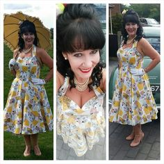 Most enjoyable day today ♡ @vivienofholloway #vivienofholloway #bettiepageshoes #petticoat #hairflower #pearls #vintageparasol #parasol #vintage #pearls #morris #morrisminor #moggy #50s #50sfashion #50sclothing #50sstyle #50schick #50spinupfashion #50spinupclothing #50spinup #retro #retroclothing #retrostyle #retrofashion #pinupgirl #pinupstyle #pinups #daygloves #rubywoo