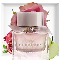 My Burberry Blush A fruity floral with a sparkling twist. Glazed pomegranate, vibrant lemon delicate roseapple, jasmine and wisteria. Totally delicious #perfumes #perfumesmujer #perfumesperu #perfume #peru