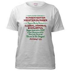 Burger Meister Meister Burger Women's T-Shirt from www.LostWorldShirts.com