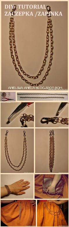 diy chain jewellery tutorial