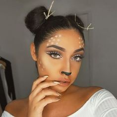 This gorgeous Bambi. | 21 Ridiculously Pretty Makeup Looks To Try This Halloween