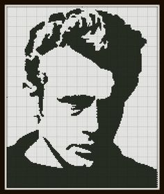 Cross Stitch Pattern James Dean Silhouette by SilhouetteCentral, $4.00