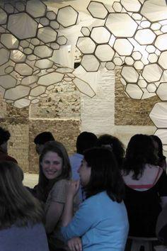 Geometric, Textured Ceiling