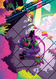 Neon Genesis Evangelion - Unit 01 by Niamh Bennett