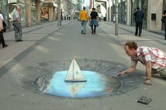 If You Bumped Into This On The Streets, You Would Stop On The Track. Epic, Awesome, Unbelievable 3D Street Art Work.