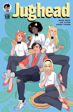 "margueritesauvage: "" Jughead #15 - variant cover - with Sabrina and Josy and the Pussycats ! Are you watching Riverdale? Jughead is, as always, the coolest, yes he is… - Out in May 2017 #Riverdale..."