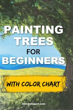 Tree Painting 101 (Learn to Paint Trees with Acrylics) Trembeling Art Acrylic Painting acrylic painting Acrylics Art grasstrees Learn Leaves Paint Painting tree Trees Trembeling Acrylic Painting Trees, Acrylic Painting For Beginners, Acrylic Painting Lessons, Simple Acrylic Paintings, Beginner Painting, Painting Tips, Acrylic Art, Knife Painting, Oil Painting Tutorials