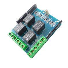 Escudo del módulo del relais del canal 5Pcs 5V 4 para Arduino