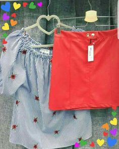Gonna in ecopelle: 19€   Camicia : 20€ #DonnaPiùFirenze