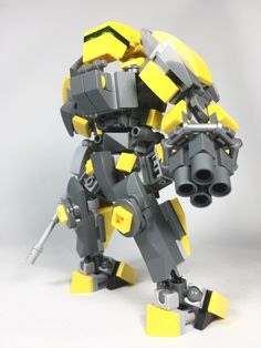Lego Mech - Yellow and Gray