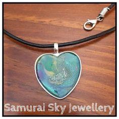 Hand Painted Heart Designed By Samurai Sky Jewellery