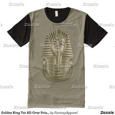 Golden King Tut All-Over Print T-Shirt - Visually Stunning Graphic T-Shirts By Talented Fashion Designers - #shirts #tshirts #print #mensfashion #apparel #shopping #bargain #sale #outfit #stylish #cool #graphicdesign #trendy #fashion #design #fashiondesign #designer #fashiondesigner #style