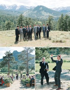 Location Scout – Rocky Mountain High | Hearts Aflutter by Flutter Magazine Colorado Wedding - Groom and groomsmen - Estes Park