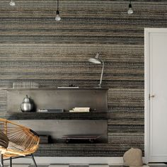 Elitis wallpaper adds a quirky finishing touch to a feature wall in any #interior