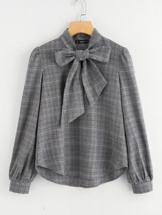 SheIn offers Bow Tie Neck Plaid Blouse & more to fit your fashionable needs. SheIn offers Bow Tie Neck Plaid Blouse & more to fit your fashionable needs. Blouse Styles, Blouse Designs, Women's Fashion Dresses, Hijab Fashion, Fashion Styles, Mens Fashion, Bluse Outfit, Hijab Stile, Vetement Fashion