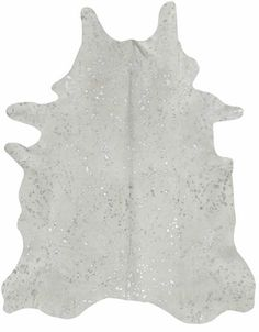 Metallic Cowhide Rug White | available at Hattan Home