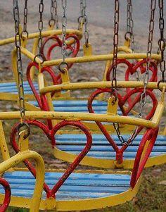 vintage valentine swings