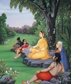 Seventh - Rama Avatar - The Rama Incarnation Part Ten Avatars of Lord Vishnu - Dasha avatar. Lanka dahan, Hanuman and mainak parvat, Jayatu and sampati story. How Hanuman meets sree ram, Ramayana Story, Lord Sri Rama, Lord Rama Images, Vaishno Devi, Sita Ram, Krishna Radha, Durga, Jai Hanuman, Indian Art Paintings
