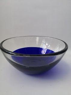 Murano cobalt blue and clear glass bowl (SOLD) Murano Glass, Cape Town, Cobalt Blue, Clear Glass, Decorative Bowls, Skyscraper, Retro, Tableware, Skyscrapers