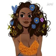 Yellow Dragon (Charlie Weasley) Source by eugeniavmilan Black Girl Cartoon, Black Girl Art, Black Women Art, Art Girl, Girl Artist, Black Girls, Cartoon Kunst, Cartoon Art, Character Inspiration