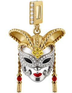 13933452cbf Louis Vuitton celebrates the opening of its Venezia store and launches a  limited-edition carnival mask charm. The charm is created with white and  yellow ...