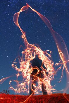 Light painting photography by Dennis Calvert #lightpainting #photography #nighttime