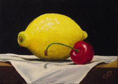 Lemon Painting | Jane Palmer Fine Art: Daily painting #37