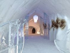 Last March, we were lucky enough to stay at the Ice Hotel. Happy to cross that off our bucket list! http://www.thetriptrotter.com/blog/travel-stories/anightattheicehotel