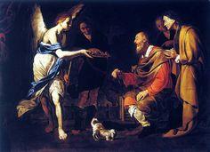 ***Bernardo Cavallino, La Curación de Tobías, s. XVII. Madrid, Museo del Prado.