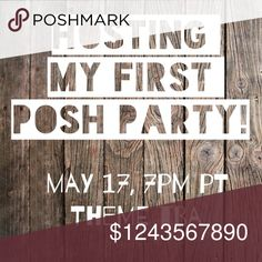 Yay! My first posh party!! 🎉I'm co-hosting my first Posh Party!!!🎉                                                  May 17, at 7pm PT                                                               Theme to be announced closer to date. I will start looking for host picks the week of the party. Please see the requirements for my HPs above. If you have never had a host pick please let me know! Other
