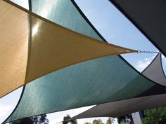 triangle sun-shade sails