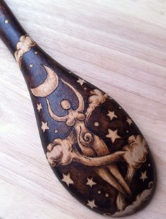 Kitchen Witchery: Moon Goddess Deluxe #Spoon, by GreenwoodCreations13.