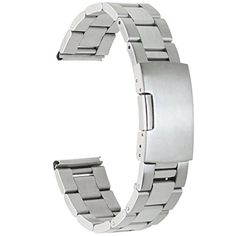 Parts Smart Vintage Swiss Made 100% Stainless Steel Metal Silver Band Bracelet 18mm #200# Superior Performance