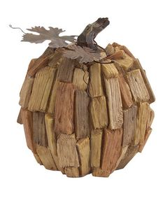 Season of Plenty: Harvest Décor  -  Large Driftwood Pumpkin