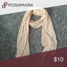 Peach Dotted Scarf Good condition. Accessories Scarves & Wraps